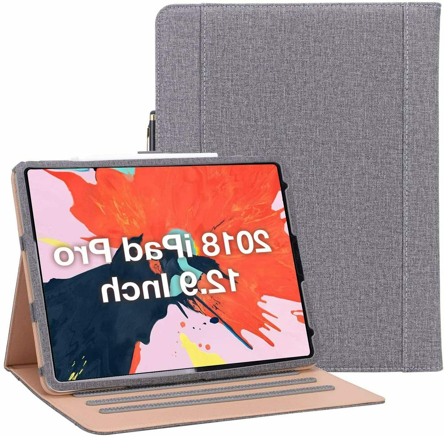 ipad pro 12 9 stand folio fabric
