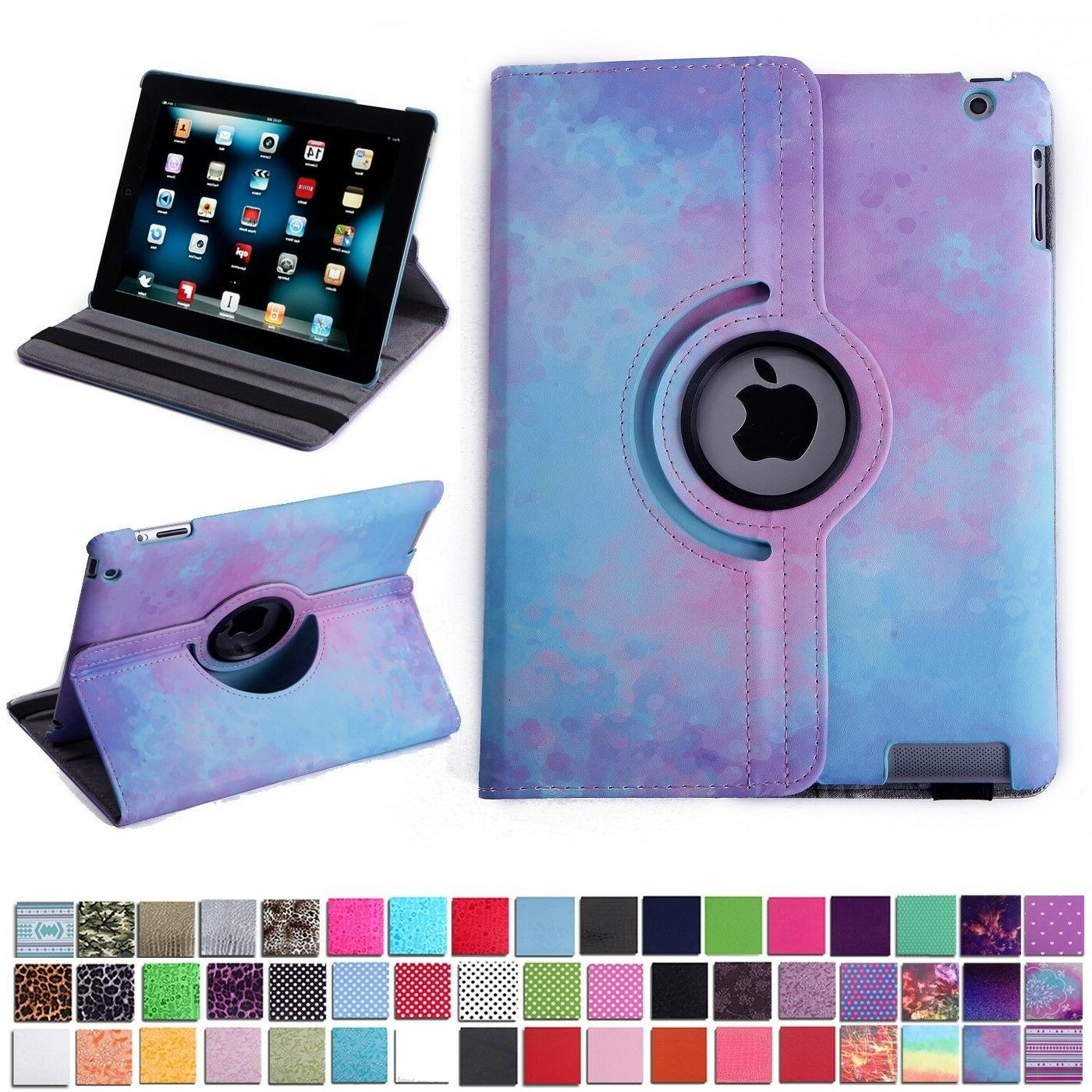 iPad Tablet Case Rotating Flip Stand 360 Degree Folding Magn