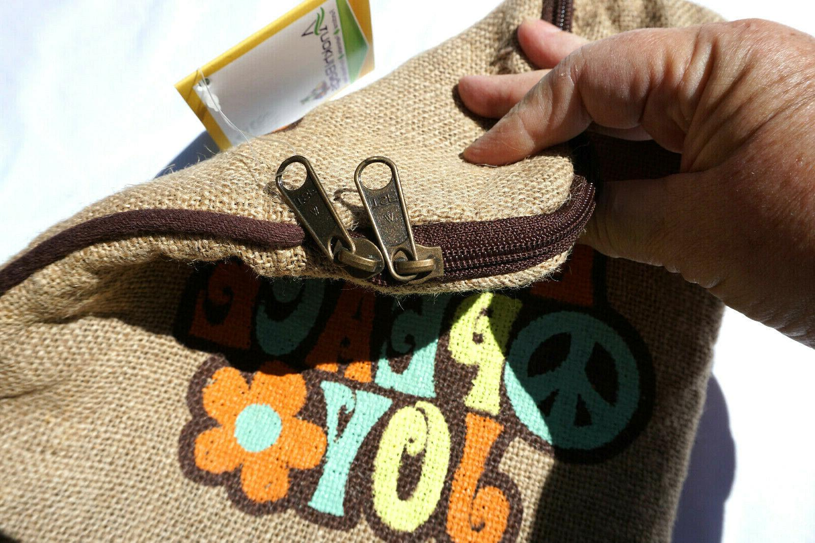 Jute Bags Tablet iPad Case Love Peace