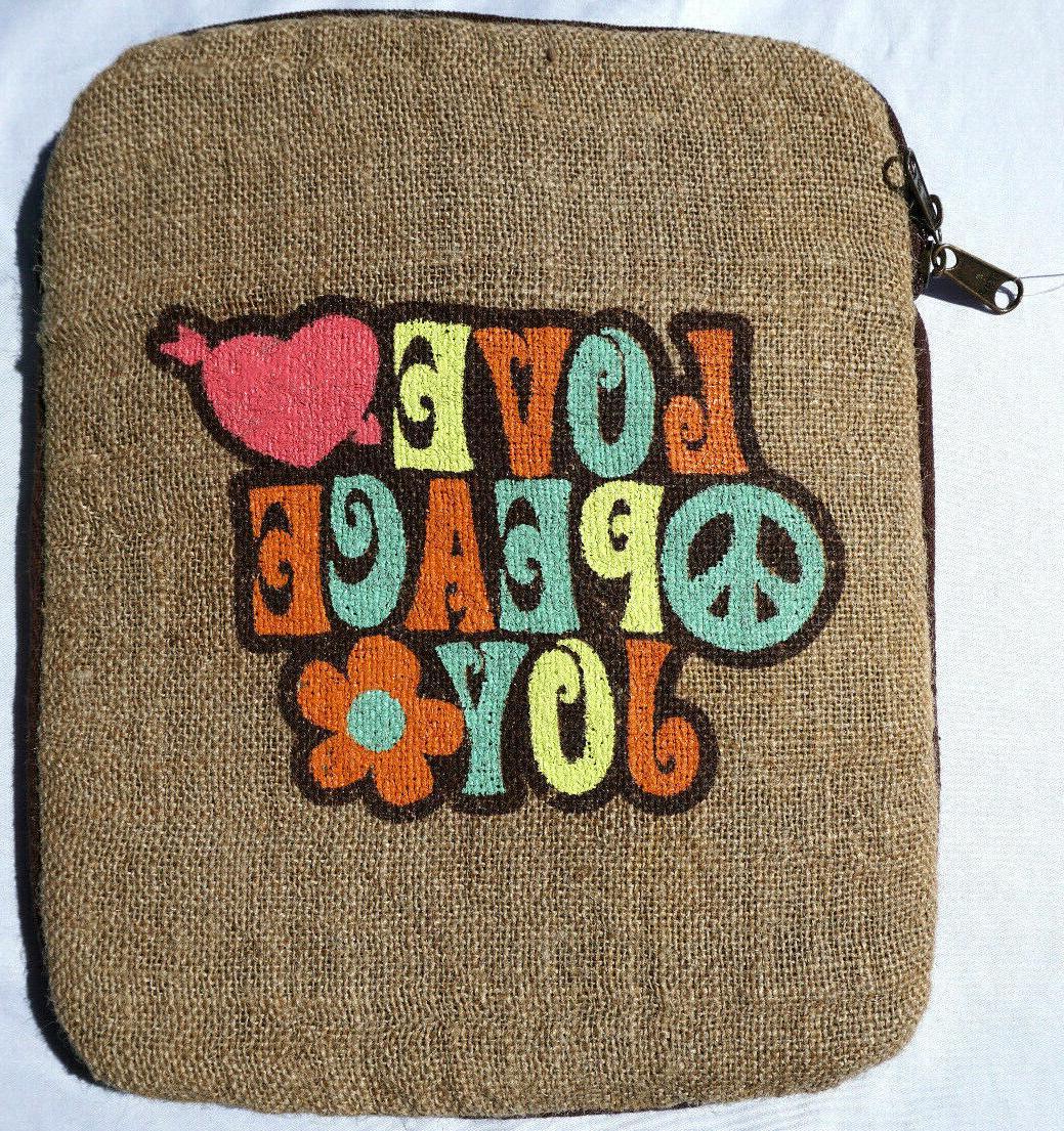 jute bags electronic tablet ipad case ecofriendly