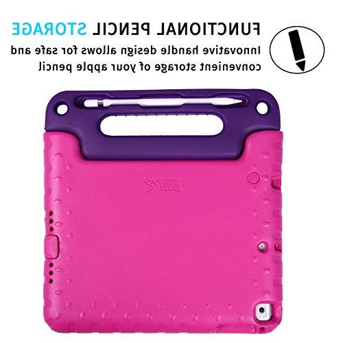 "HDE Case for iPad 2017 Kids Bumper Cover Handle for New Gen and 5th Generation 9.7"" -"