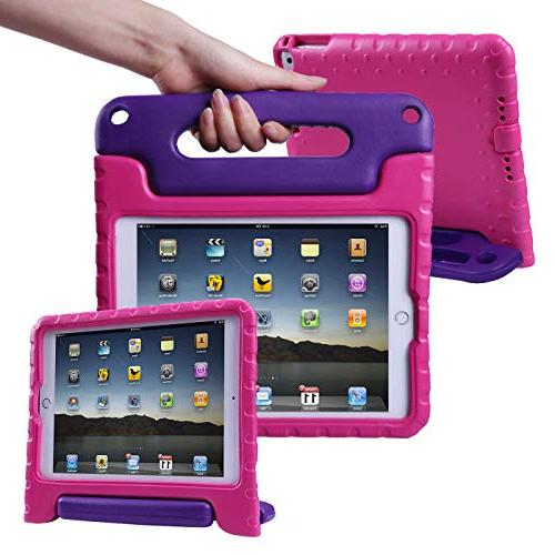 "HDE Case for 9.7 / 2017 Kids Bumper Handle for 6th Gen Apple and Generation 9.7"" - Pink"