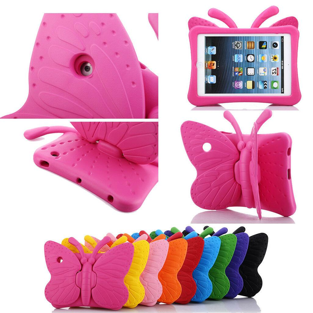 Kids EVA Butterfly Shockproof Stand Case Cover For iPad 2 3