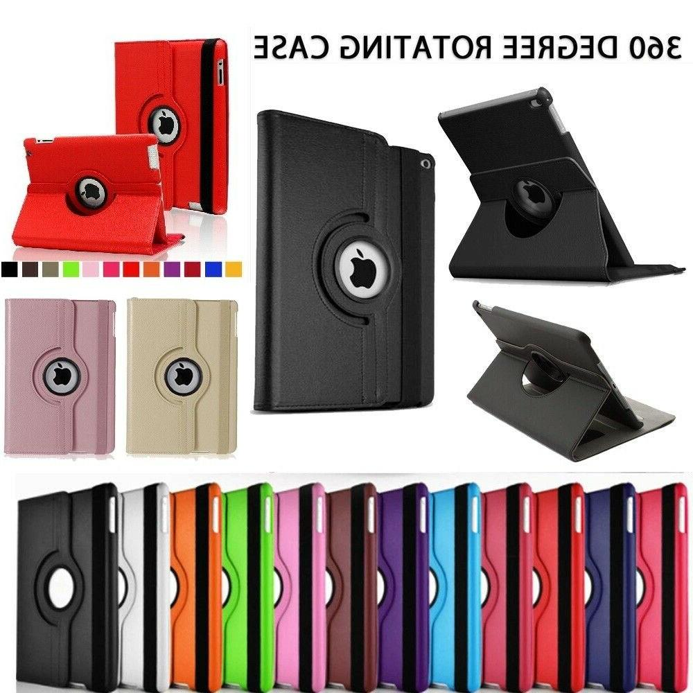 Leather Degree Rotating Smart Stand For 2 A1395/A1396