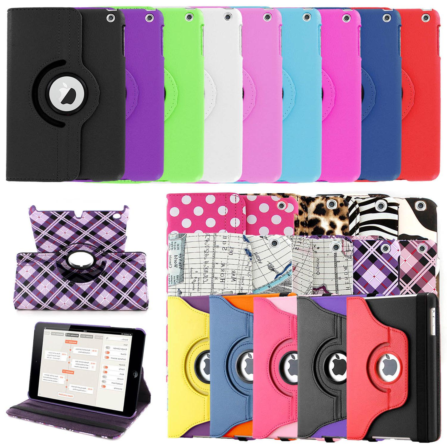 360 Leather Case for Apple iPad 9.7 5th 2017 2 3 4 Mini 7.9