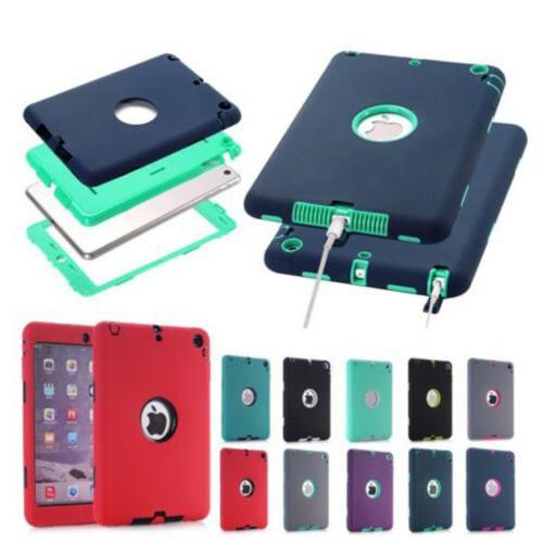 lot Case For iPad2 3 4 Mini1/2/3 Mini4 Air Shockproof Hybrid