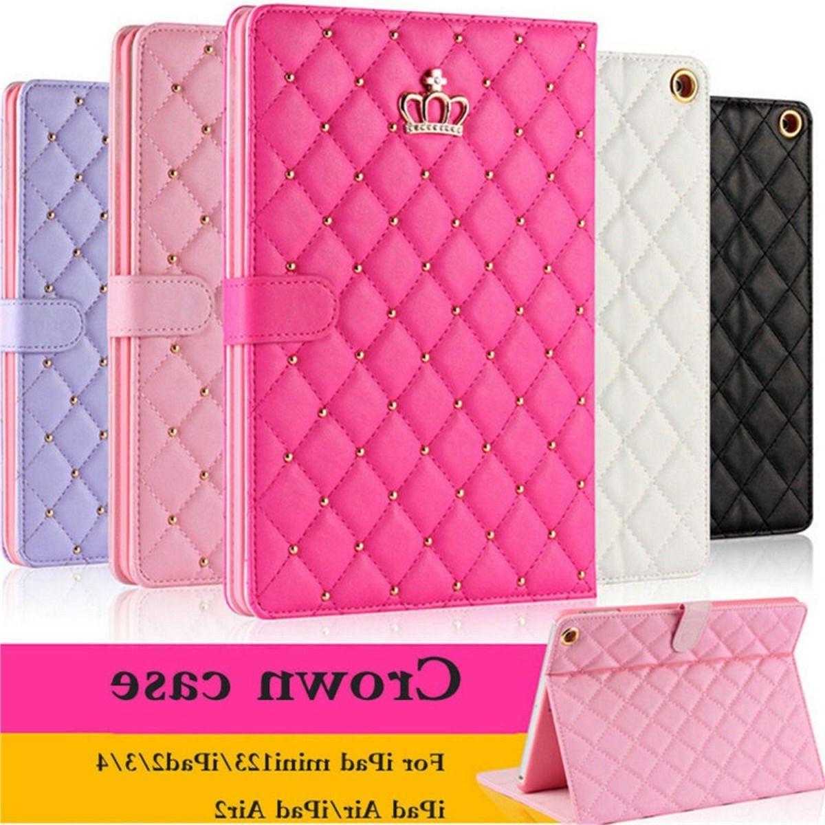 luxury crown slim smart wake leather case