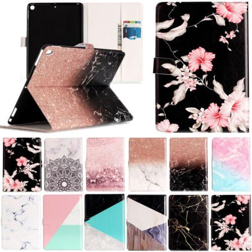 Marble Pattern Leather Wallet Case Stand Cover for iPad 4 5t