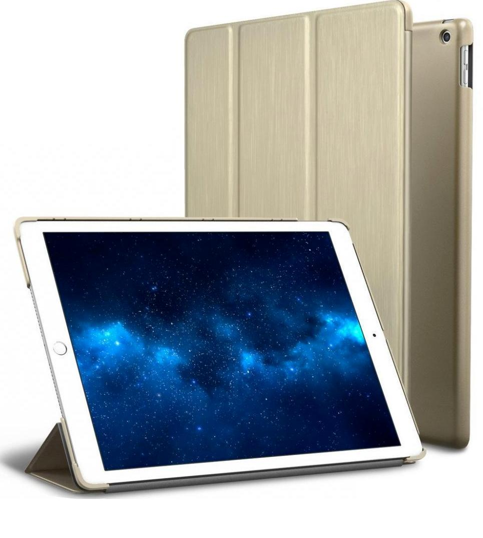 """ROARTZ Metallic Gold Slim Fit Smart 2018 2017 9.7"""" iPad Pro"""