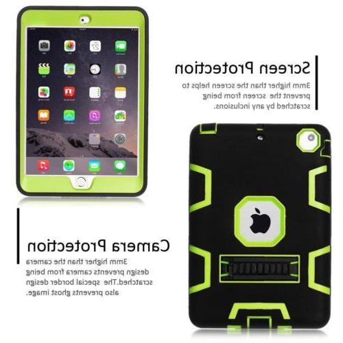 Military Rubber With Case Cover For iPad