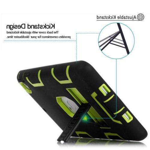 Military Rubber Hard Stand Case For Apple iPad