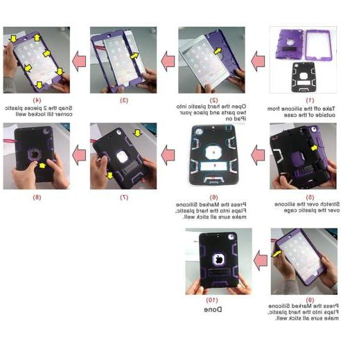 Military Shockproof Rubber With Stand iPad