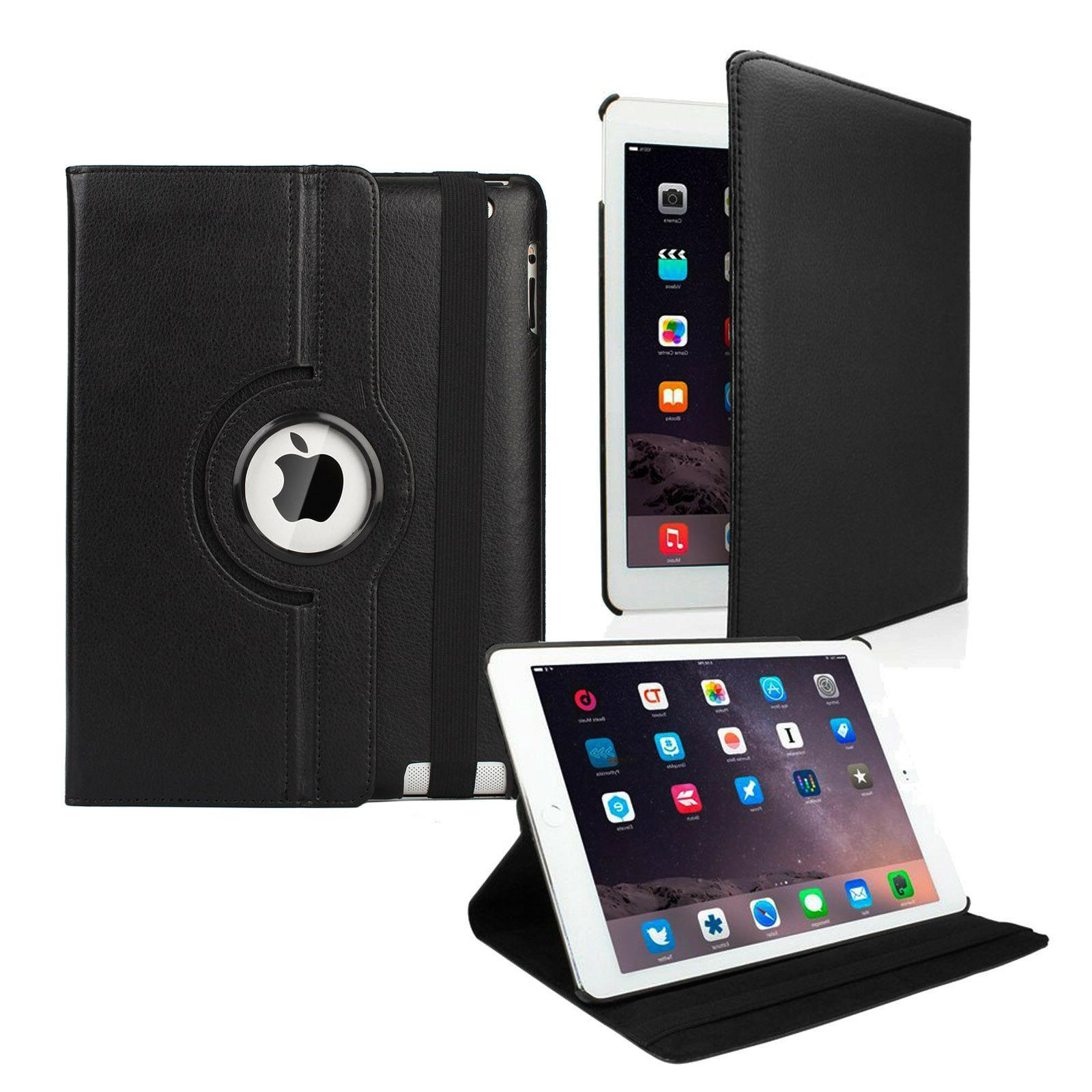 360 Folio PU Leather Cover Stand Case For Apple iPad 2 3 4 /