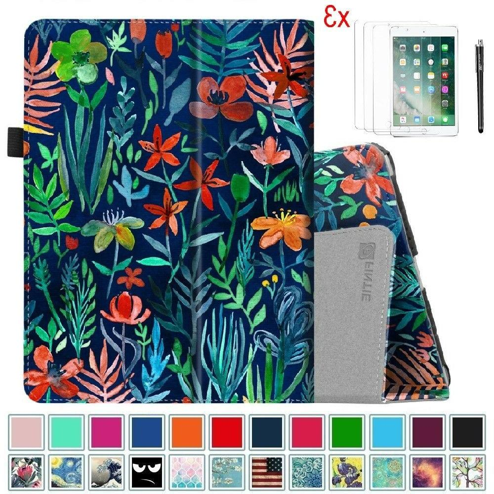 """For iPad 6th 9.7"""" 2018 Tablet Folio Case Cover Stand + Scree"""