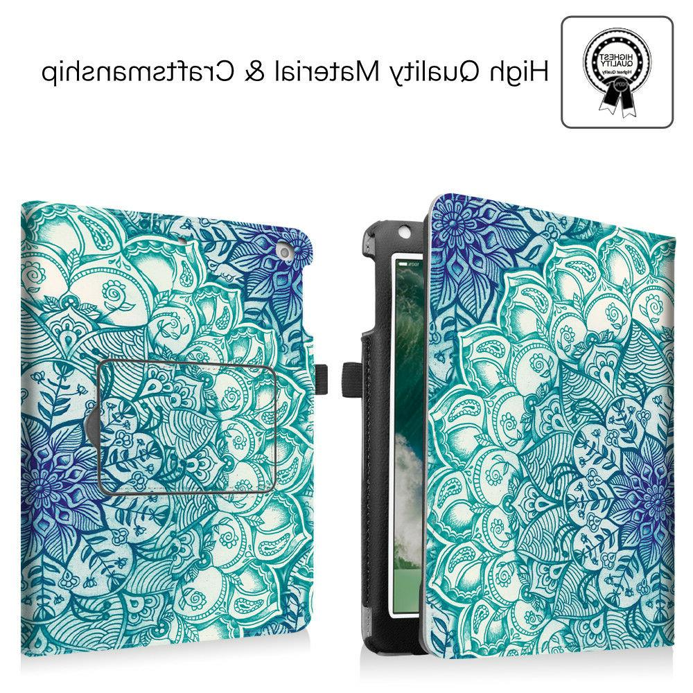 For New Gen 9.7 inch Folio Cover Stand + Bluetooth Keyboard