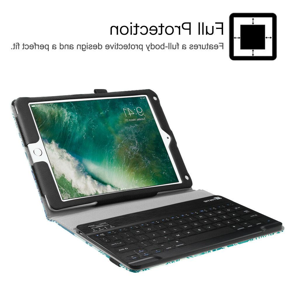 For iPad Gen Folio Case Cover Stand + Bluetooth