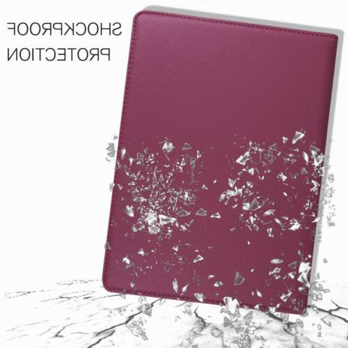 For iPad 9.7 2018 6th Rotating Leather Case