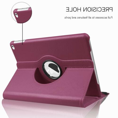 For New iPad 2018 6th Rotating Leather