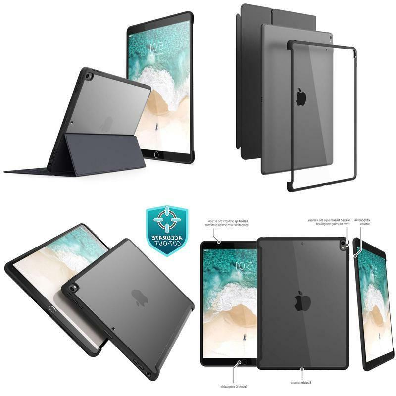 New iPad Pro Case Clear Hybrid Cover Compatible with Smart K