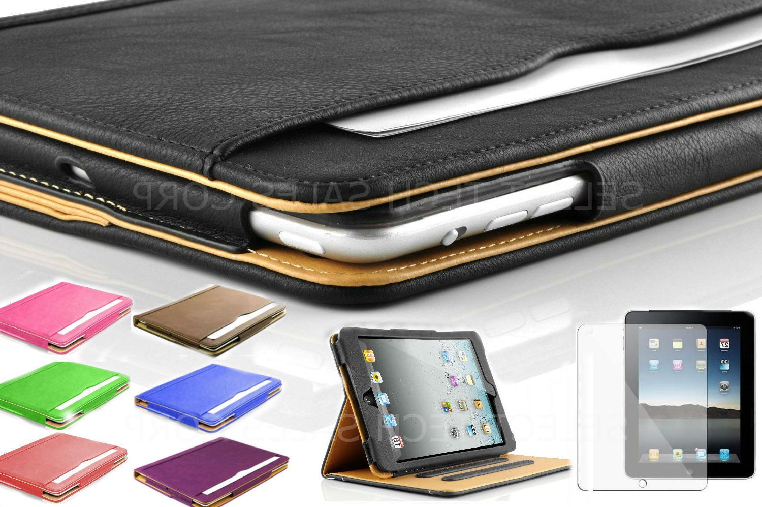iPad 9.7 6th 2018 Soft Leather Smart iPad Case Cover Sleep W