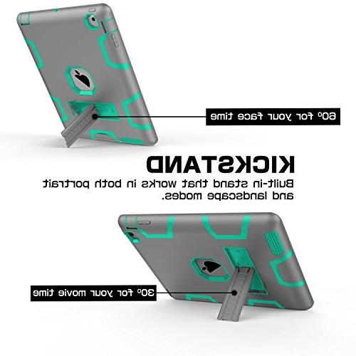 Topsky Layer Armor Defender Full Body Case iPad Grey/Green