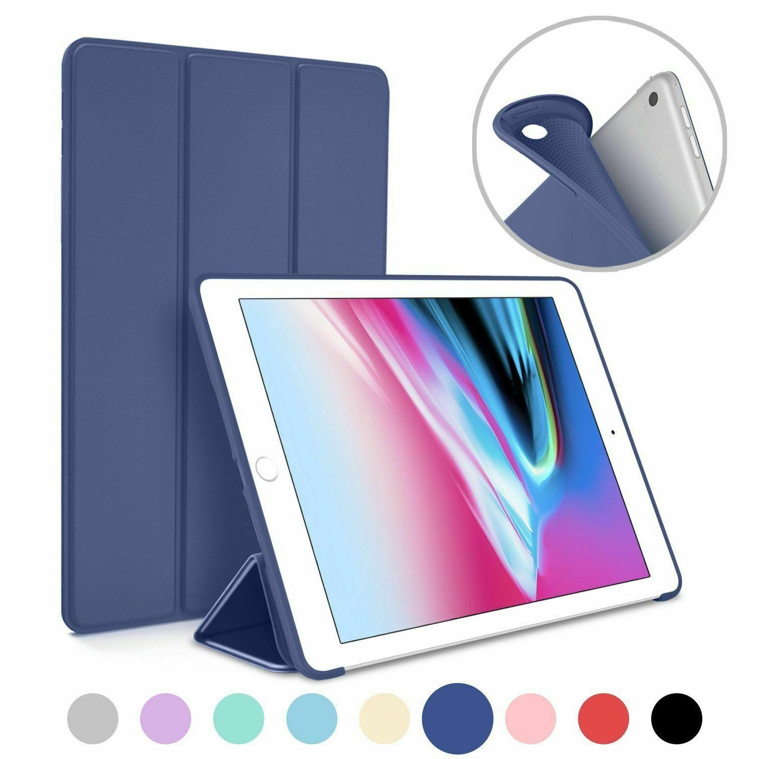 pu leather stand shock case for ipad