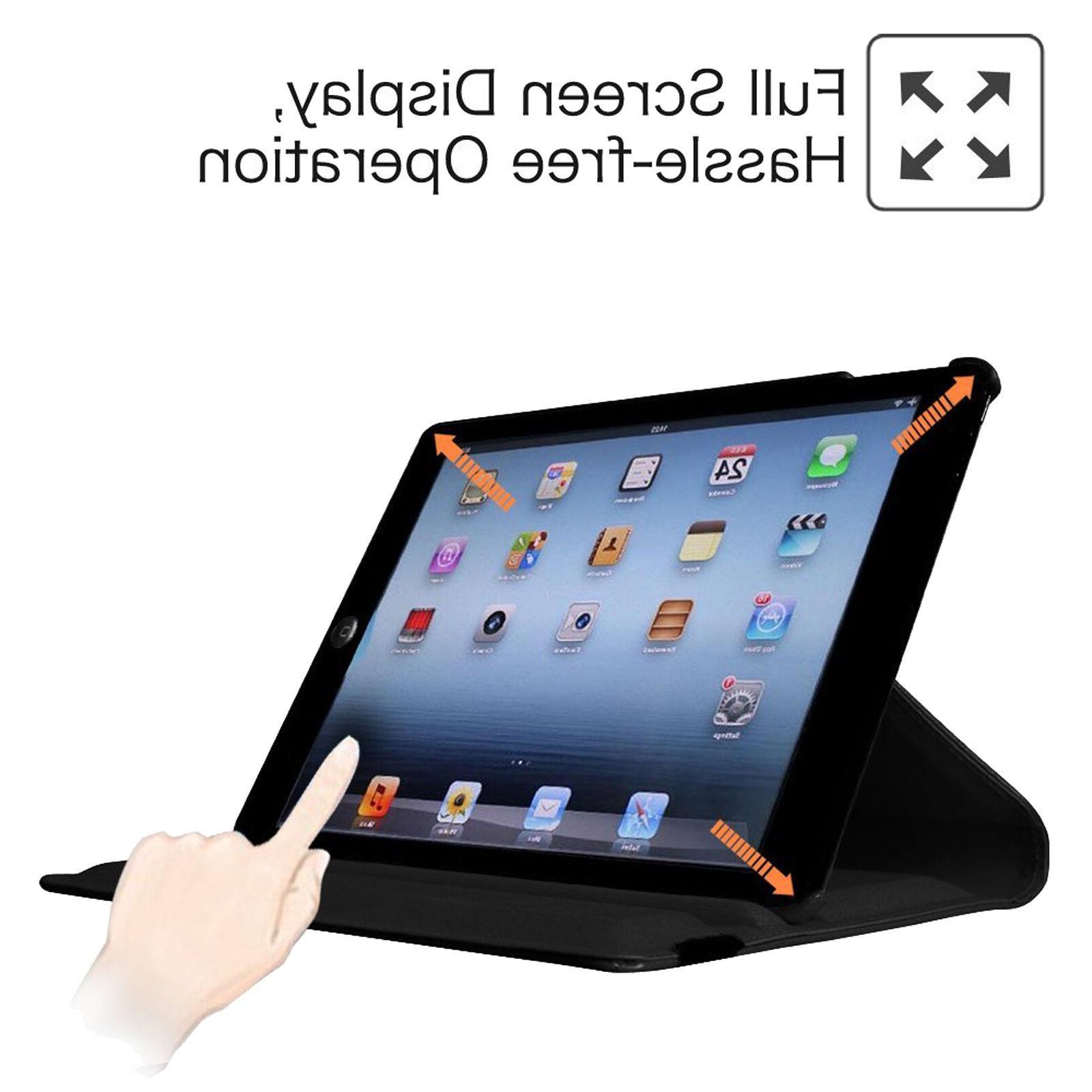 Rotating Stand iPad Case For iPad 2 5 Mini 2 3 1 Pro