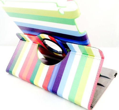 rotating stand pu leather case