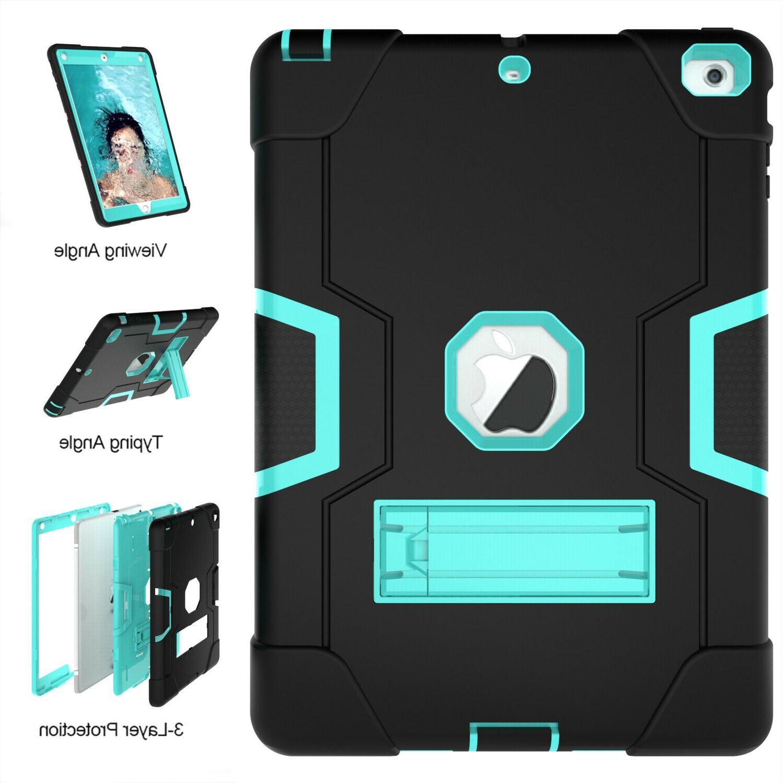 Shockproof Heavy Duty Hard Case Stand iPad Air Mini 1 2 4 5