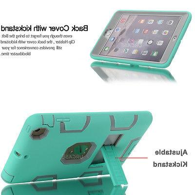 Heavy Duty Case Stand Cover for 1/2/3/4/5/Air, iPad Gen 2019