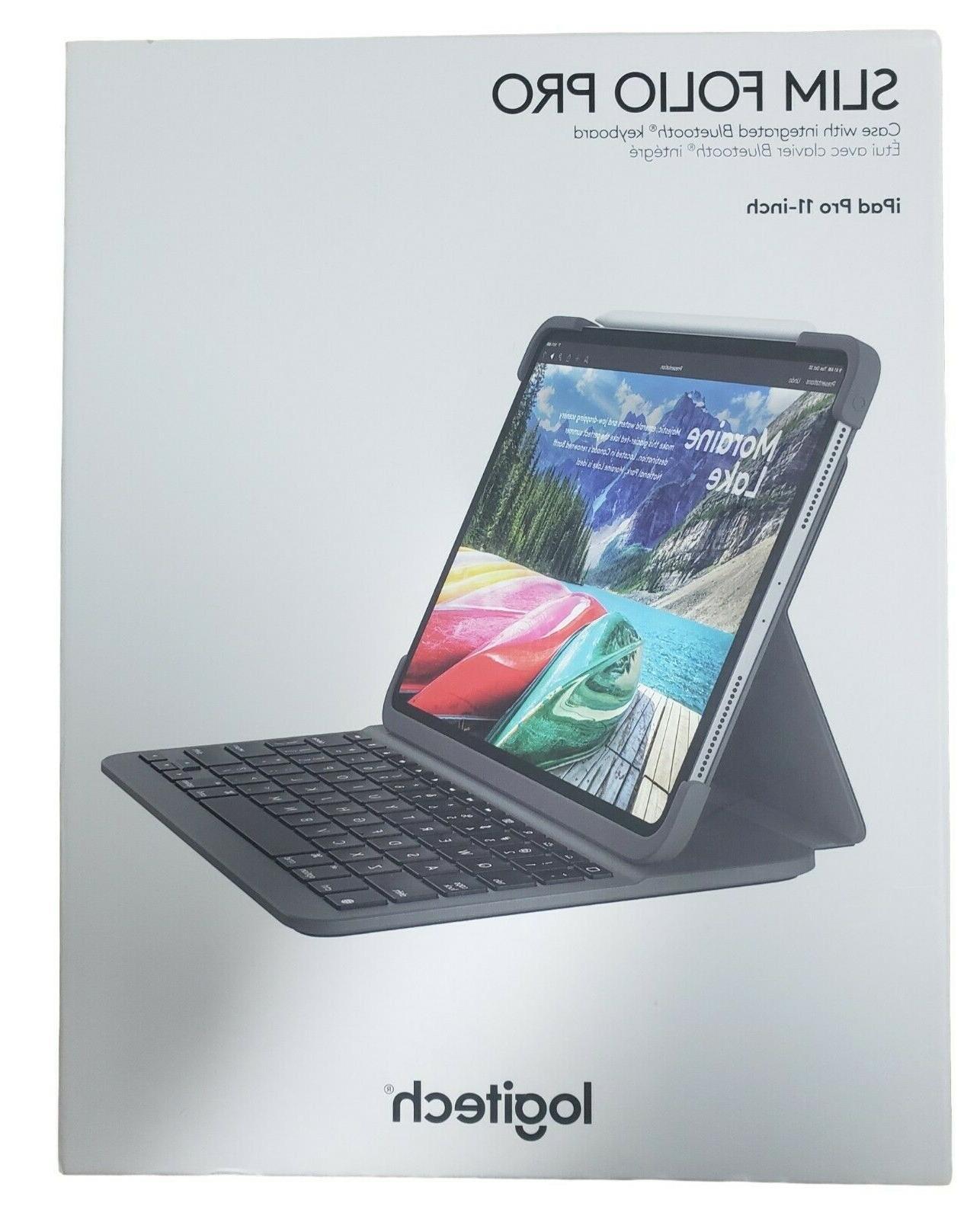 Logitech Slim Case Backlit Keyboard iPad 11-Inch