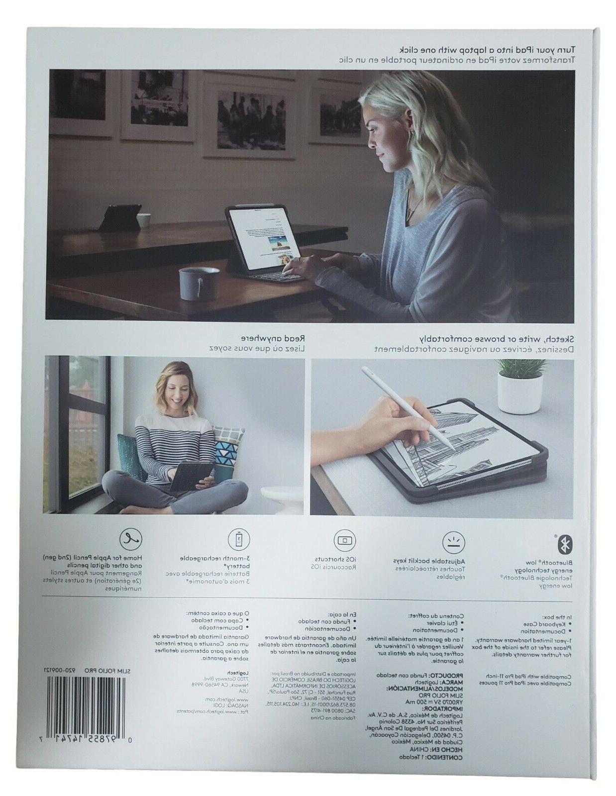 Logitech Slim Case Backlit iPad Stand