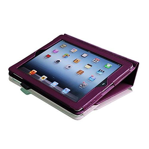 Elegani Leather Cover and Stand for iPad 2/3/4 the iPad ipad Built-in for sleep feature