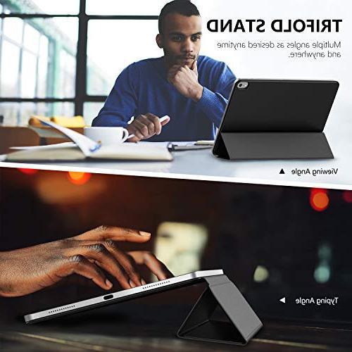 MoKo Smart Folio Case Fit 2018 Slim Smart Strong Magnetic Adsorption, Wake/Sleep - Black