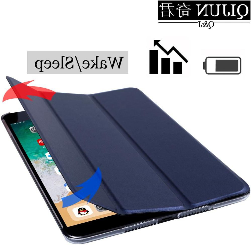 Tablet for <font><b>ipad</b></font> 2 PU Smart wake Stand Solid cover capa capa for Air2 A1566