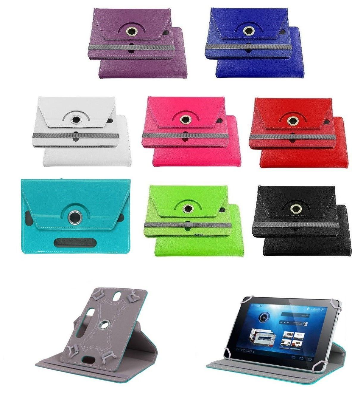 universal 7 inch leather protective stand case