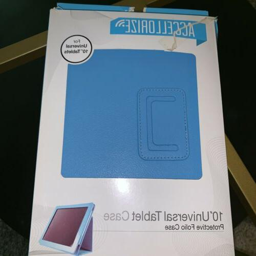 universal leather tablet case blue ipad accessories