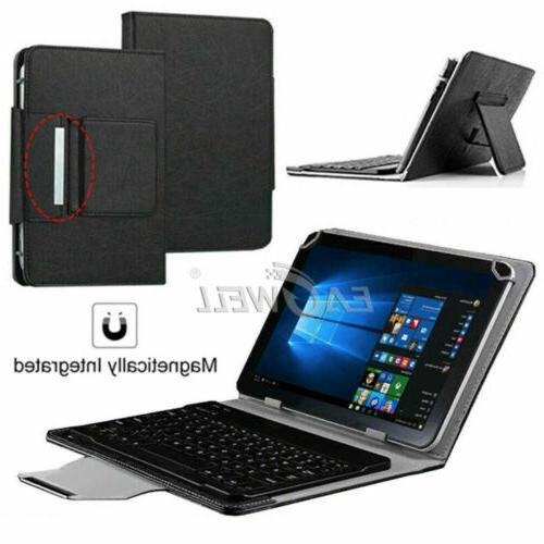 """Universal Leather Cover Case With USB Keyboard For 7"""" 8"""" Tab"""