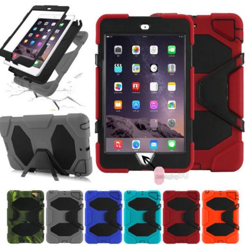 Shockproof Rubber Case Cover +Screen Protector For iPad 234