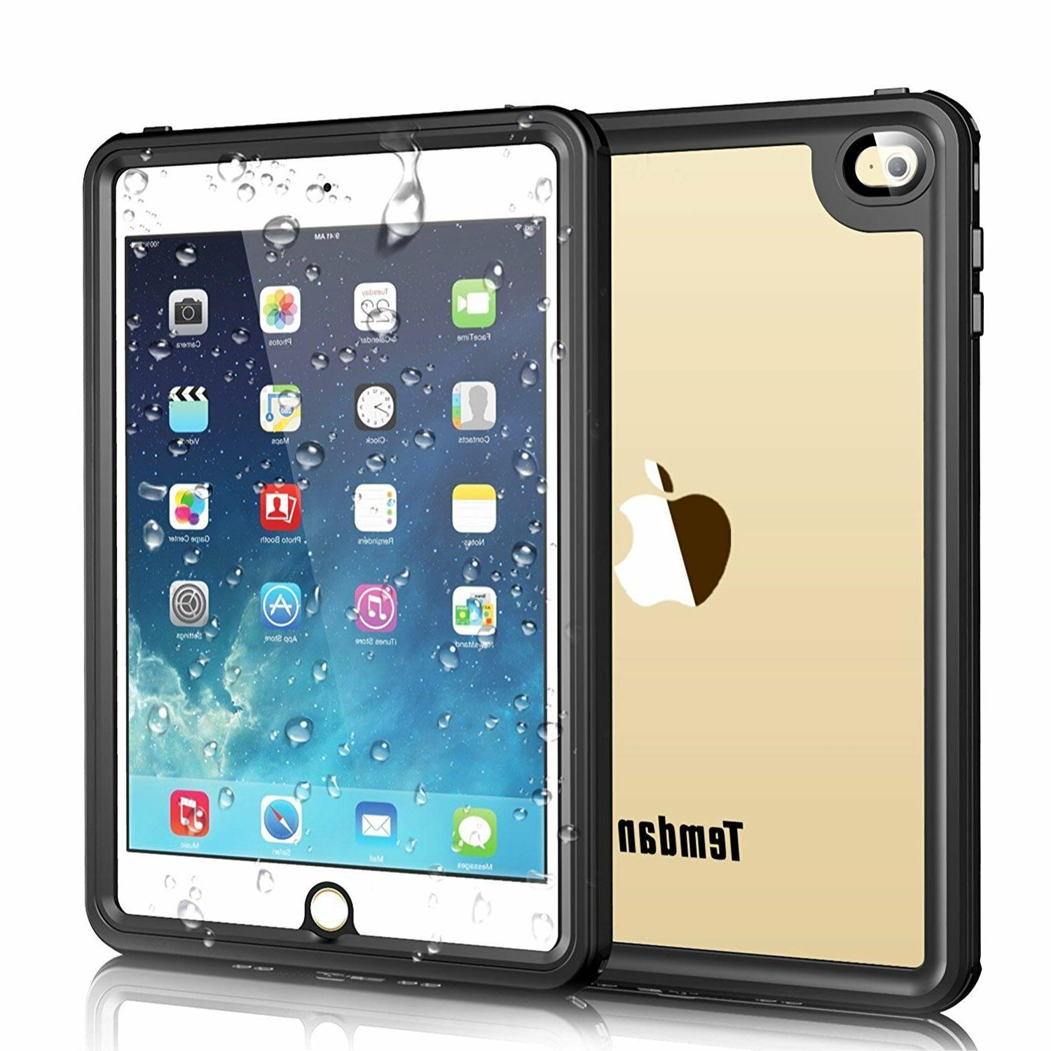 Waterproof Case with Adjustable Tablet Stand & Screen Protec