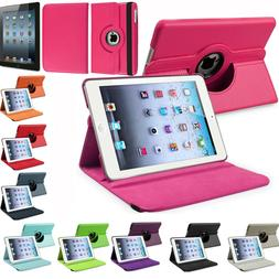 Leather 360 Rotating Smart Stand Case Cover For Apple iPad2/