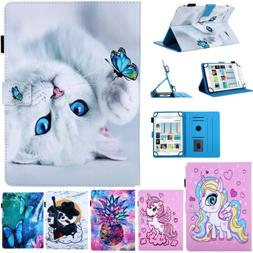 Leather Cartoon Pattern Magnetic Back Case Cover For iPad Mi
