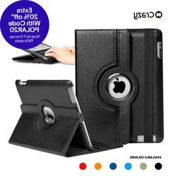Leather Smart Case Rotating Cover for iPad 6 5 4 3 2 mini Ai