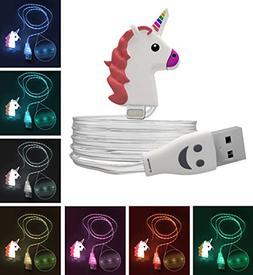 Lightning Cable Cute Unicorn Funny Emoji Face Kawaii iPhone