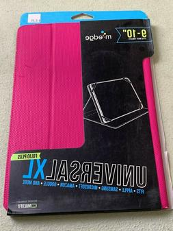 M Edge 9-10 inch Universal XL Pink Folio for Apple iPad Sams