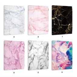 Marble Leather Smart Case Cover iPad 2 3 4 5 6 Gen Air mini