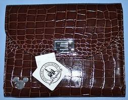 Disney iPAD CASE BROWN Mickey Icon Faux Crocodile Tablet Cas