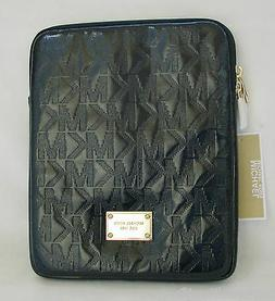 NEW-MICHAEL KORS ELECTRONICS BLACK NEOPRENE MK LOGO IPAD TAB