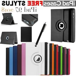 New iPad 360 Rotating Stand Case Cover Fits Apple iPad 6th G