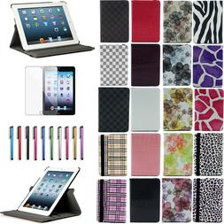 New Rotating Magnet Leather Case Smart Cover Stand for iPad